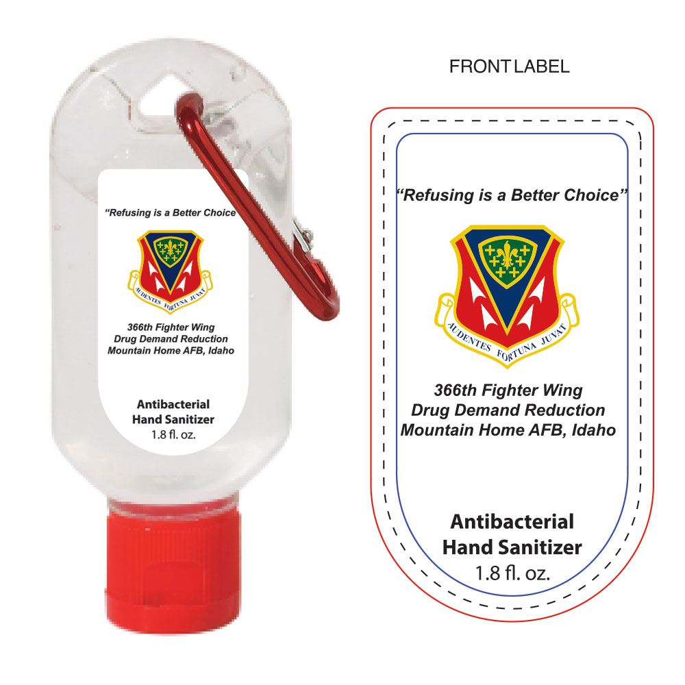1.8 oz Hand Sanitizer With Carabiner