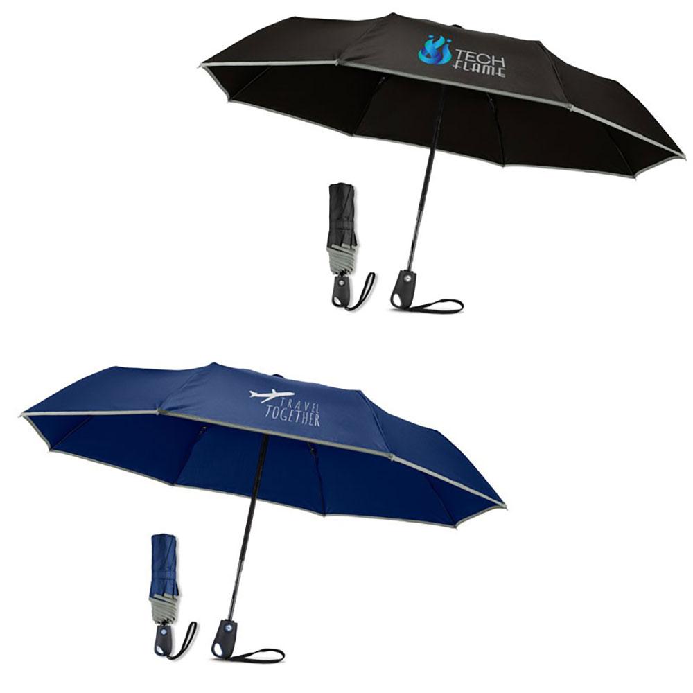 "42"" Auto Open Umbrella With Reflective Trim"