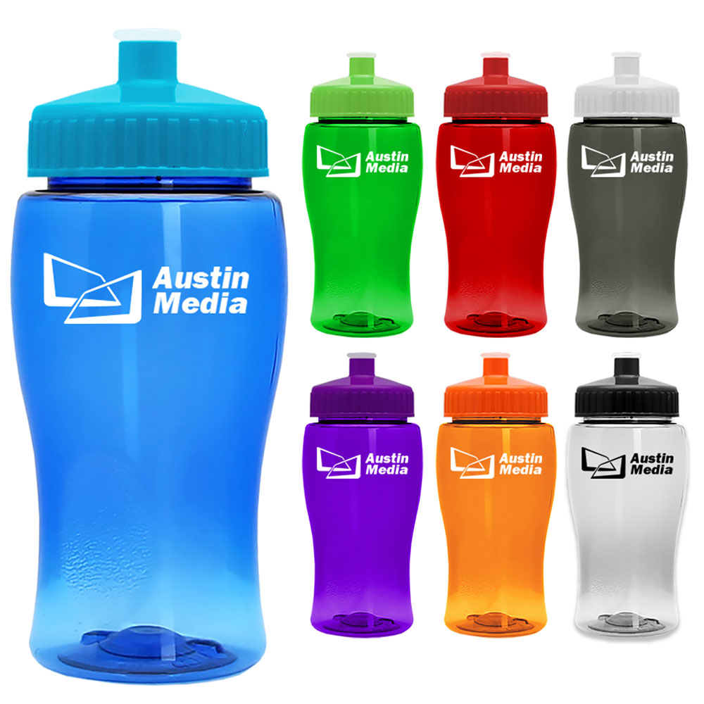 18 oz. Transparent Water Bottle