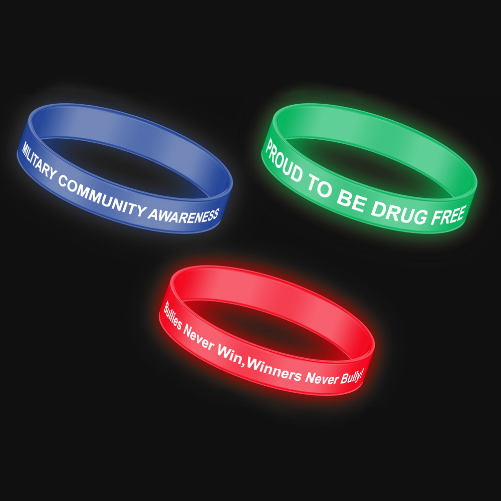 Glow In The Dark Silicone Bracelets