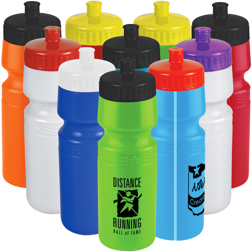 24 oz. Premium Bike Bottle With Push/Pull Lid