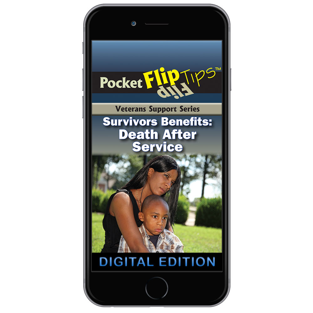 Digital Veterans Support Series Flip Tip Book Survivors Benefits: Death After Service