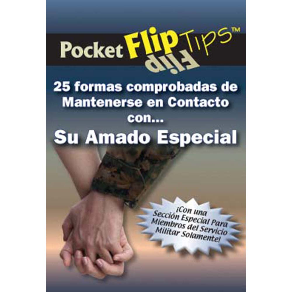 Pocket Flip Tip Book: (10 Pack) 25 Proven Ways to Stay Connected with Your Special Loved One   Spanish