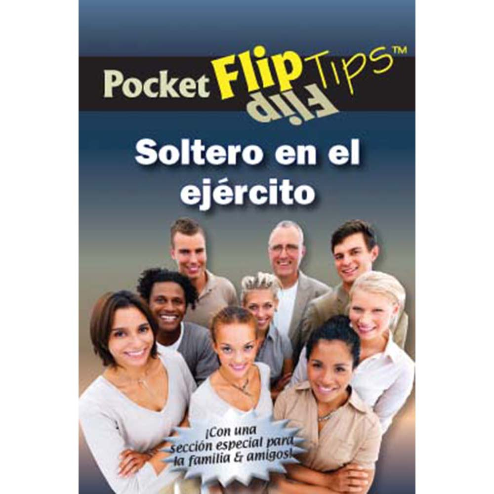 Pocket Flip Tip Book: (10 Pack) Single in the Military   Spanish