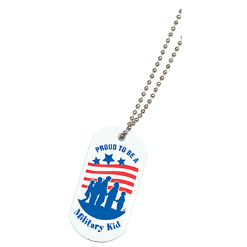 Dog Tag: Proud to be a Military Kid 10 Pack