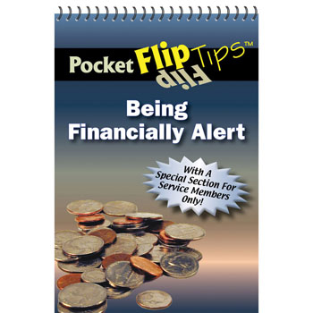 Pocket Flip Tip Book: (10 Pack) Being Financially Alert