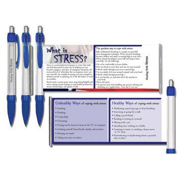 Dealing with Stress   Military Instant Facts Banner Pen