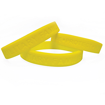 Yellow Ribbon Silicone Bracelets (10 pack)