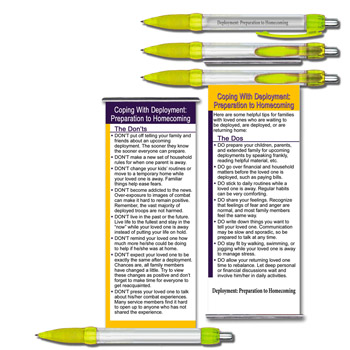 Deployment: Preparation to Homecoming   Yellow Ribbon Banner Pen