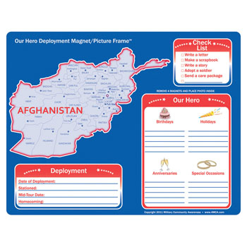 Afghanistan: (25 Pack) My Hero Deployment Magnet and Picture Frame