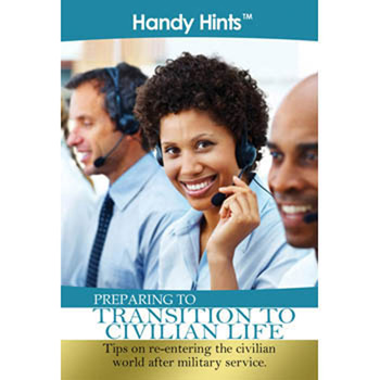 Handy Hints Foldout: (25 Pack) Preparing to Transition to Civilian Life