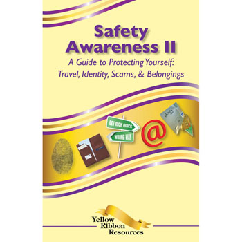 Yellow Ribbon Program Booklet: (25 pack) Safety Awareness II   Travel, Identity, Scams, and Belongings