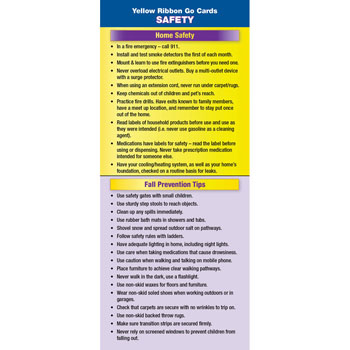 Yellow Ribbon Program Go Card: (50 Pack)  Safety