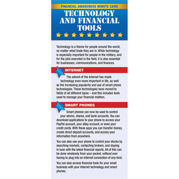 Yellow Ribbon Financial Minute Card: (50 Pack) Technology & Financial Tools