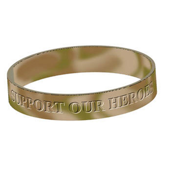 Support Our Heroes (10 Pack) Silicone Bracelet