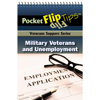 VA Pocket Flip Tip Book: (10 Pack) Military Veterans & Unemployment