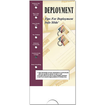 Military Info Slide: (25 Pack) Deployment
