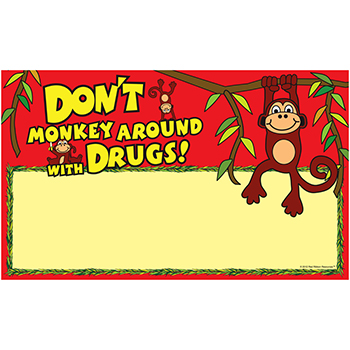 Don't Monkey Around with Drugs Sign Up Banner