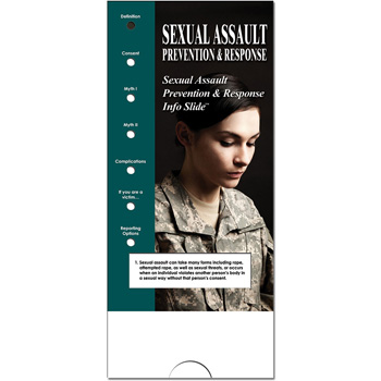 Military Info Slide: (25 Pack) Sexual Assault Prevention