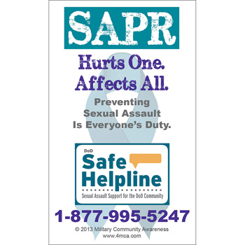 Sexual Assault Prevention & Response Magnet (25 Pack)