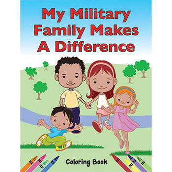 Color Me Coloring Book: (50 Pack) My Military Family Makes a Difference