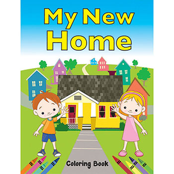 Color Me Coloring Book: (50 Pack) My New Home