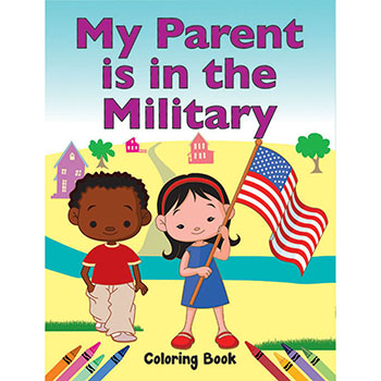 Color Me Coloring Book: (50 Pack) My Parent is in the Military