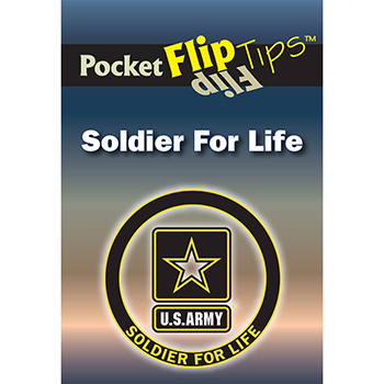 Pocket Flip Tip Book: (10 Pack)   Soldier for Life