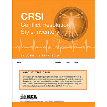 Conflict Resolution Style Inventory (CRSI) Self‑Assessment