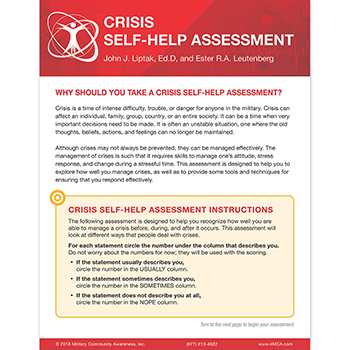 Crisis Self‑Help  Assessment