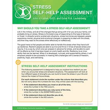 Stress Self‑Help  Assessment