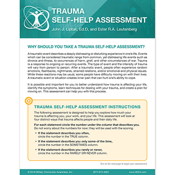 Trauma Self‑Help  Assessment