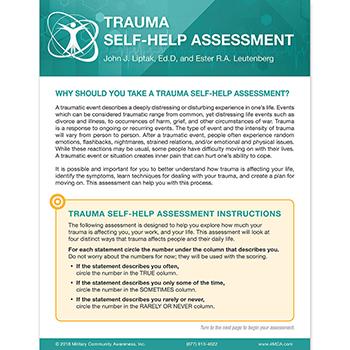 Trauma Self‑Help  Assessment