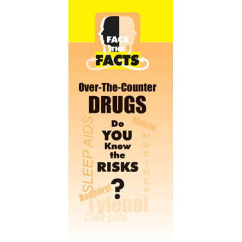 Face the Facts: (25 Pack) Over the Counter Drugs Drug Prevention Pamphlet