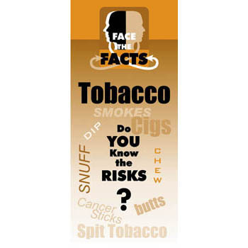 Face the Facts: (25 pack) Tobacco Drug Prevention Pamphlet