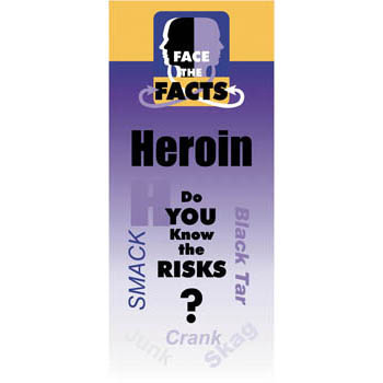Face the Facts: (25 pack) Heroin Drug Prevention Pamphlet