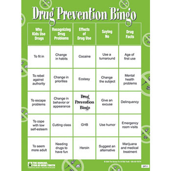 Drug Prevention Bingo Game