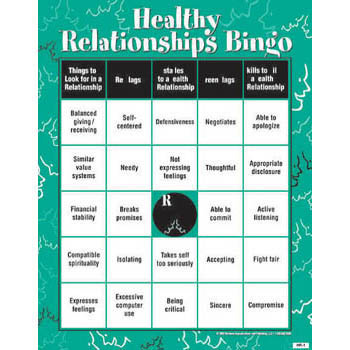 Healthy Relationship BINGO! Game for Adults