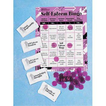 Self Esteem BINGO! Game for Adults