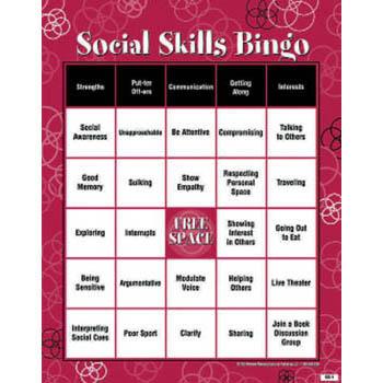 Social Skills BINGO! Game for Adults