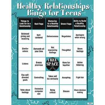 Healthy Relationships Bingo Game for Teens