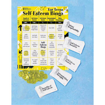 Self Esteem Bingo Game for Teens