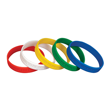 Proud to be Drug Free (10 Pack) Assorted Silicone Bracelets