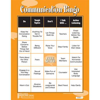 Communication Bingo Game
