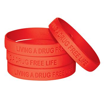 Living A Drug Free Life (10 Pack) Silicone Bracelet