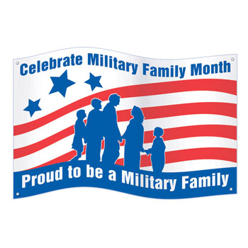Celebrate Military Family Month Banner