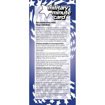 Military Minute Card: (50 Pack) Reconnecting With Your Children