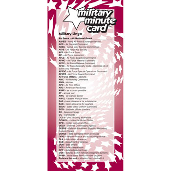 Military Minute Card: (50 Pack) Air Force/Air National Guard