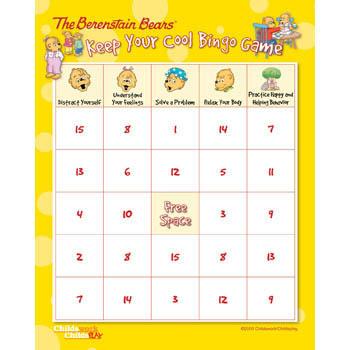 The Berenstain Bears Keep Your Cool Bingo Game