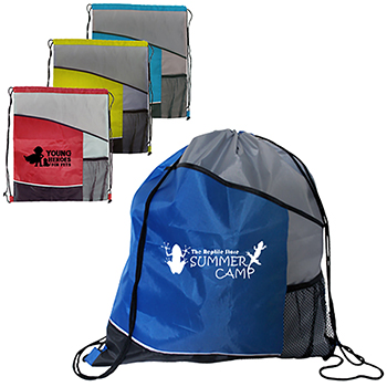Slant Pocket Drawstring Backpack